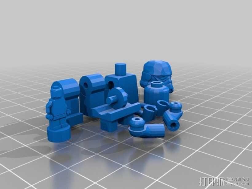 乐高人物摆件 3D模型  图1