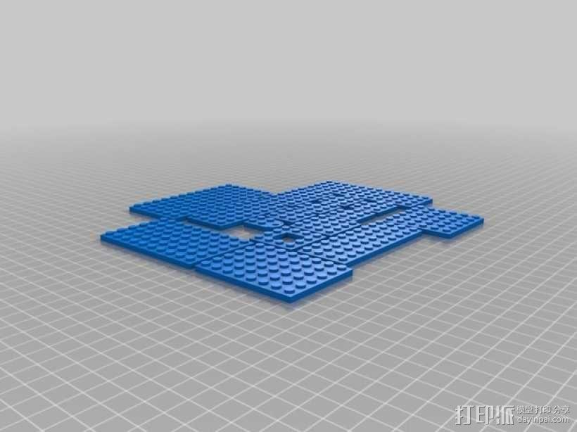 乐高盘子 3D模型  图1