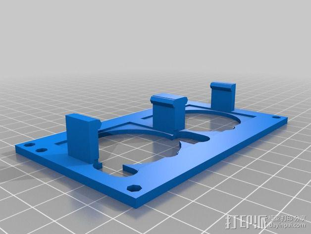 双风扇盖板 3D模型  图2