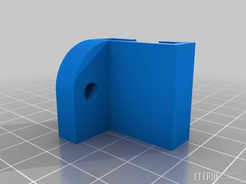 Raspberry Pi 相机适配器 3D模型  图2