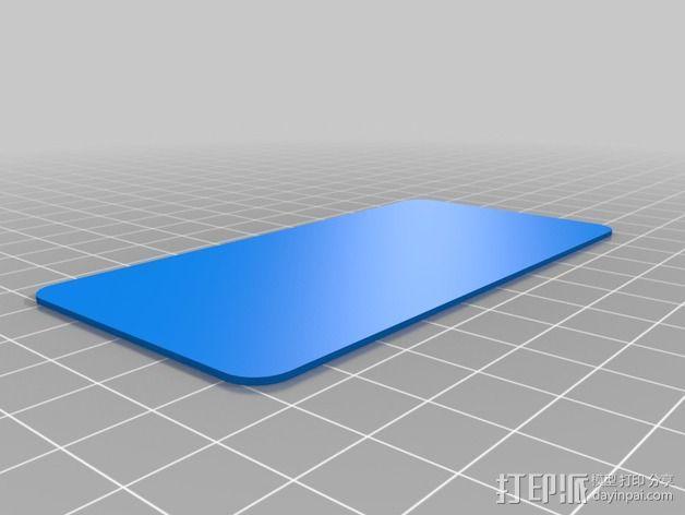 圆角参数板 3D模型  图1