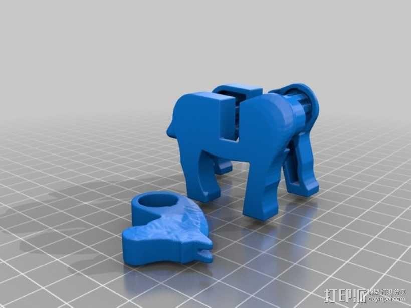 乐高马 3D模型  图1