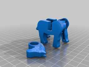乐高马 3D模型