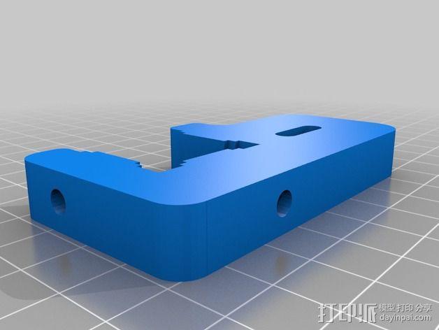 X轴适配器 3D模型  图3