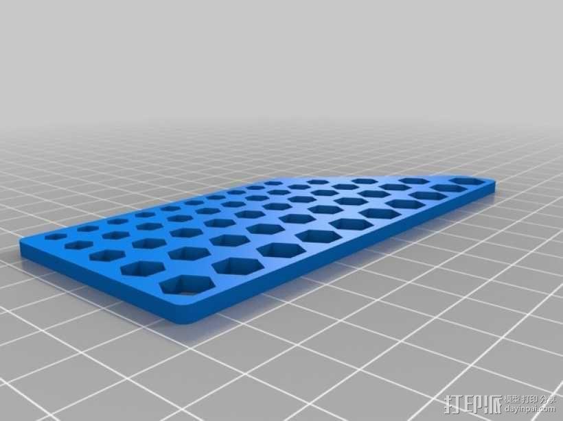 六边形校准器 3D模型  图1
