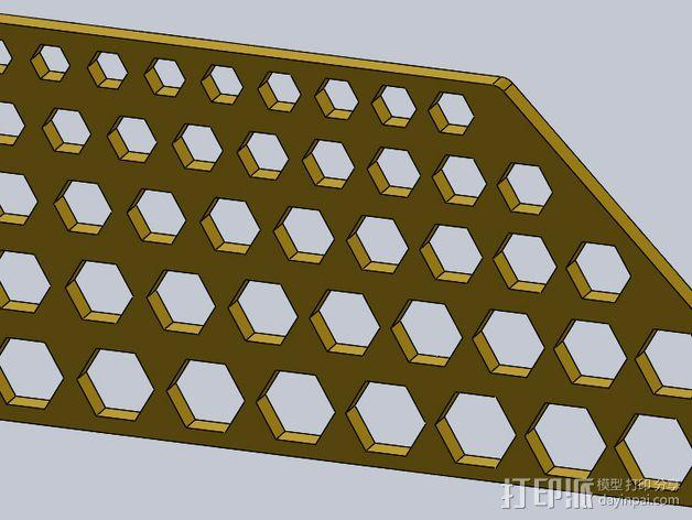 六边形校准器 3D模型  图2