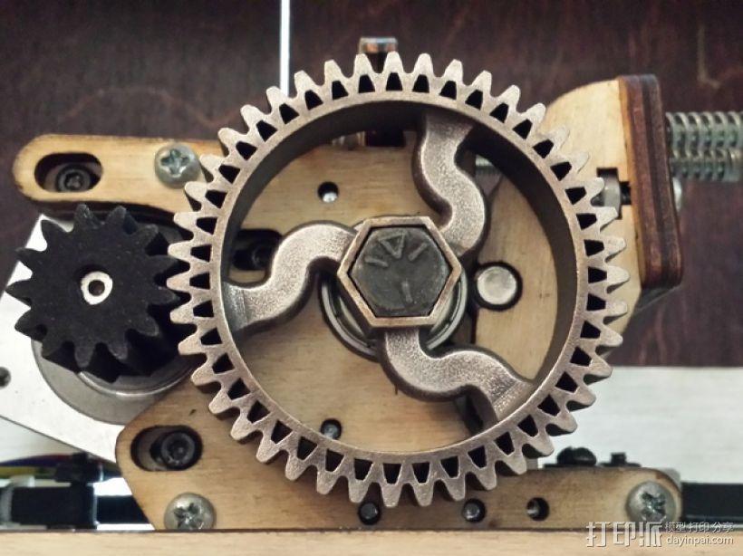 挤出器齿轮 3D模型  图1