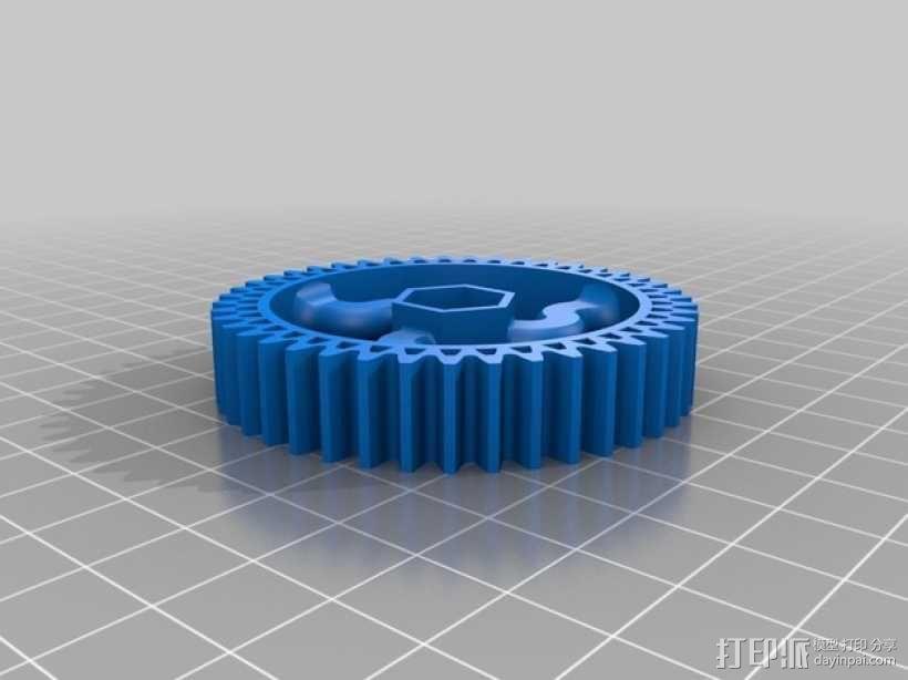 挤出器齿轮 3D模型  图3