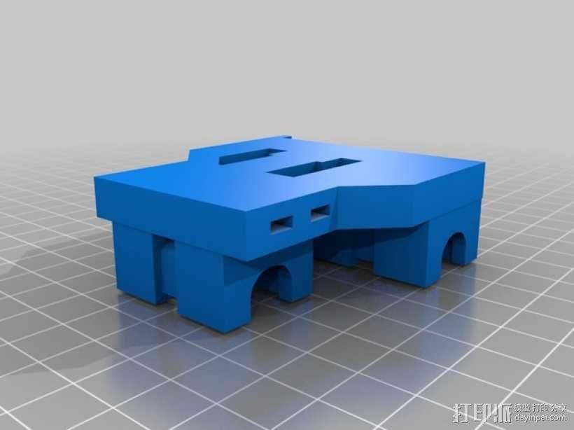 LM8UU适配器 3D模型  图3