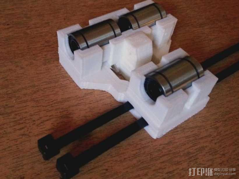 LM8UU适配器 3D模型  图1
