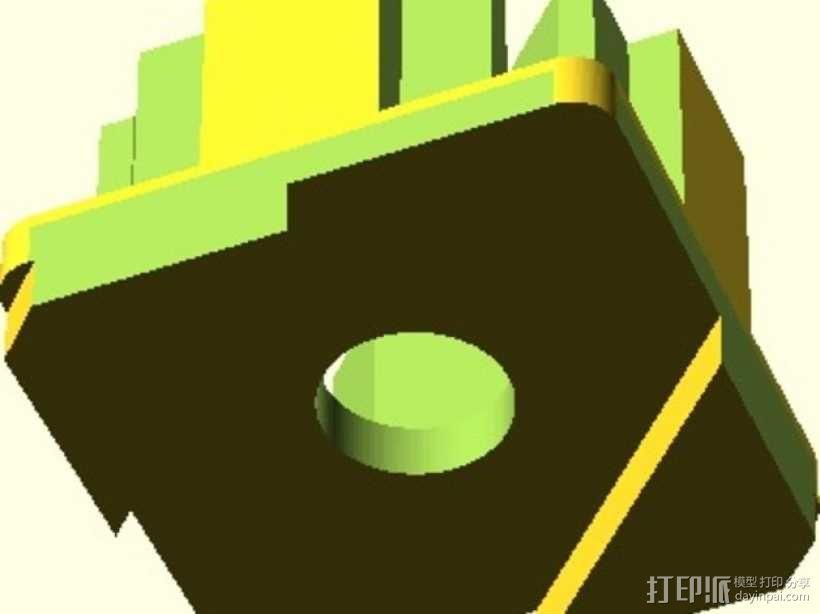 连接板 3D模型  图3