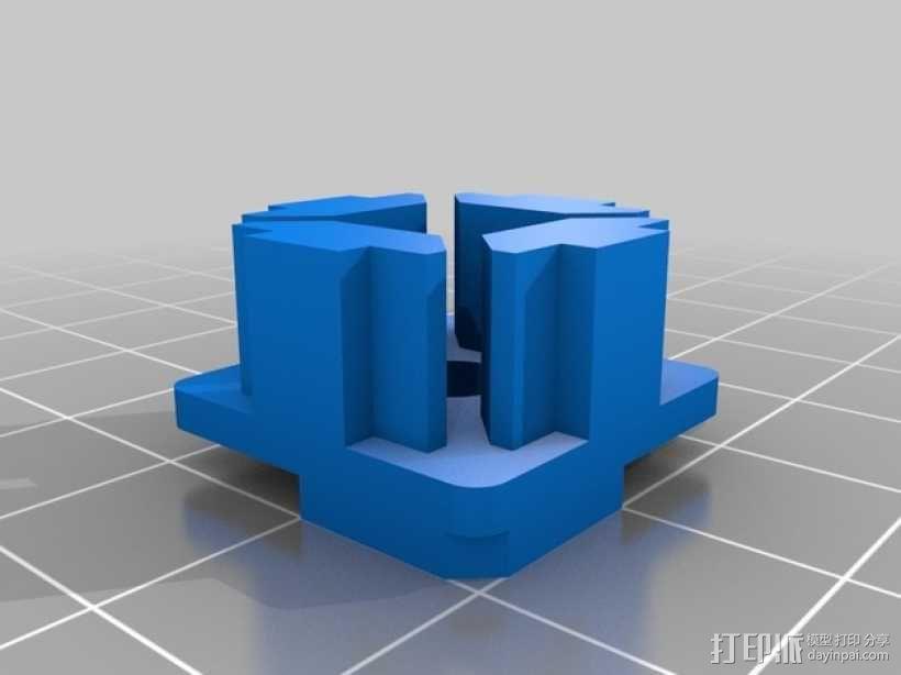 连接板 3D模型  图1