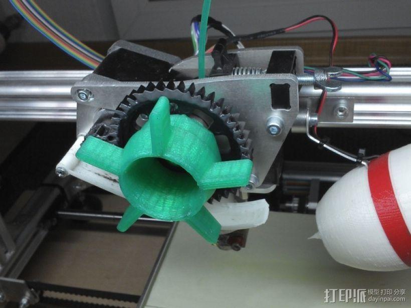 K8200挤出器 3D模型  图1