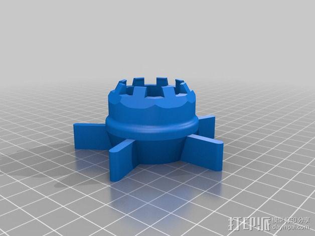 K8200挤出器 3D模型  图2