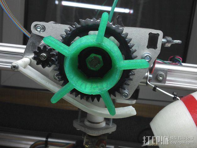K8200挤出器 3D模型  图3