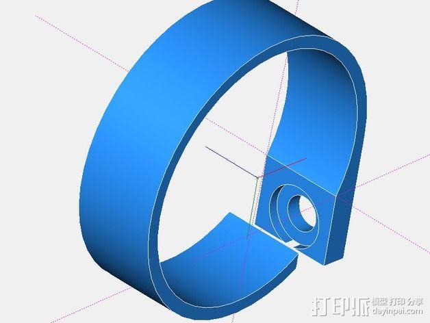 电缆固定夹 3D模型  图1