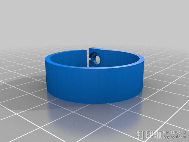 电缆固定夹 3D模型  图2