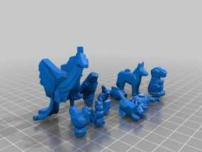 乐高摆件 3D模型
