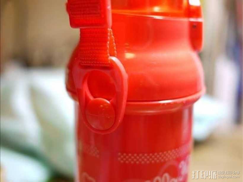 塑料瓶扣环 3D模型  图1