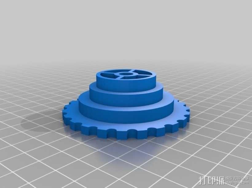 通用线轴架 3D模型  图1