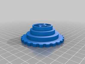 通用线轴架 3D模型