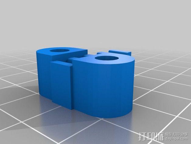 K8200 X-belt支架 3D模型  图1