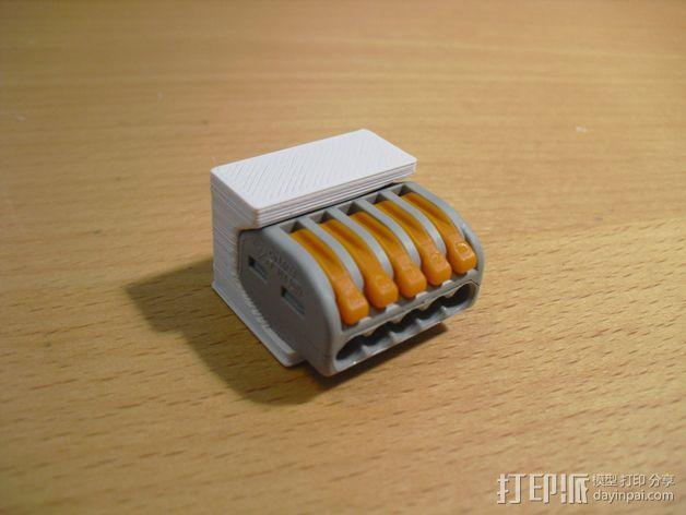 WAGO 222 适配器 3D模型  图1