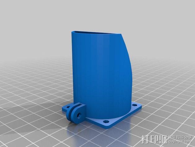 风管夹 3D模型  图2