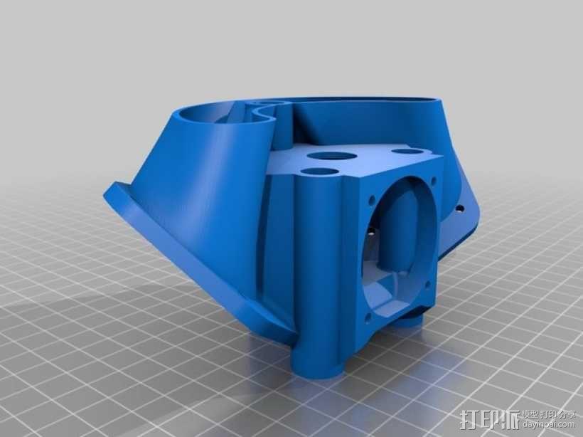 风扇挂载 3D模型  图1