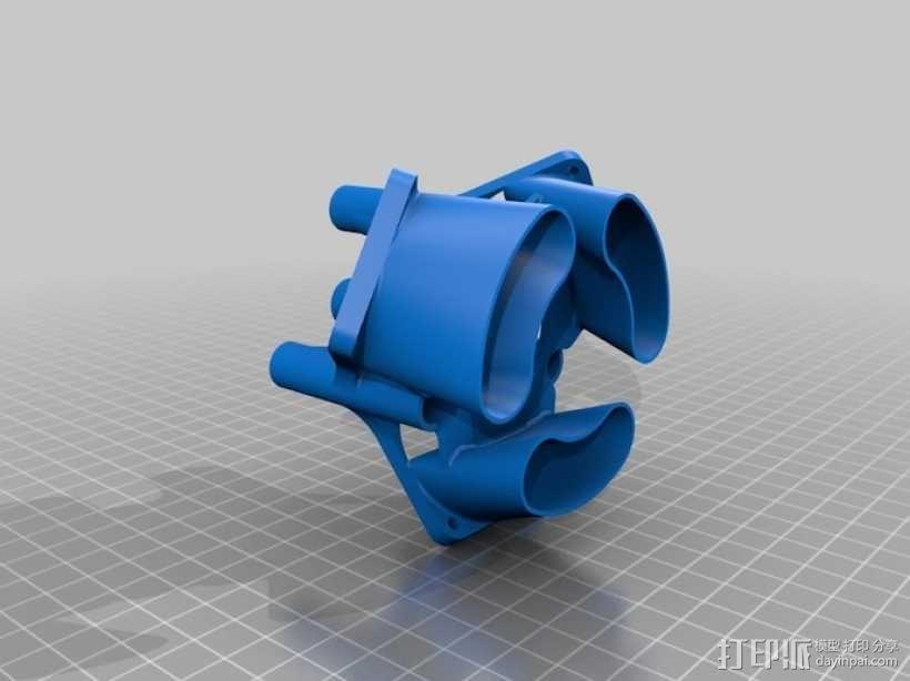 风扇挂载 3D模型  图2