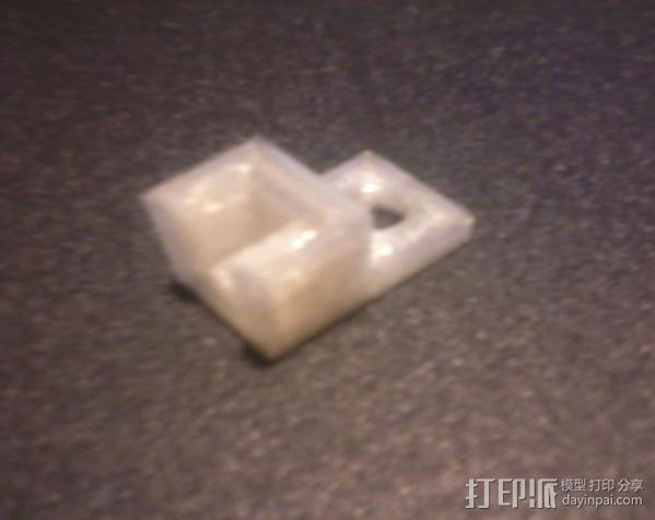简易板凳垫板 3D模型  图2
