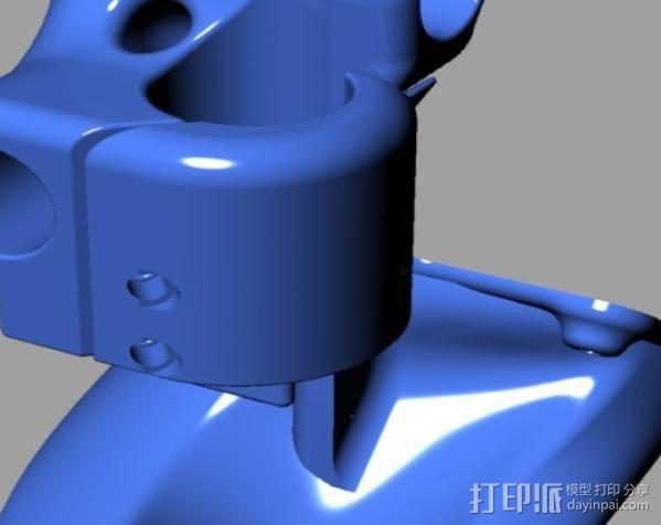 集成喷头 3D模型  图2