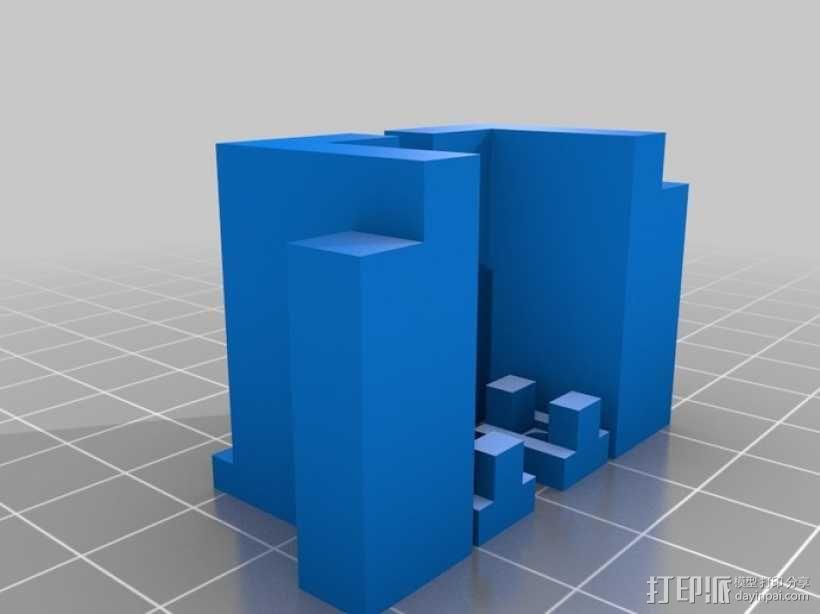 中轴适配器 3D模型  图2