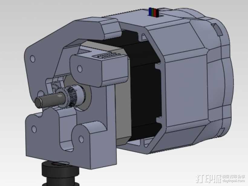 直接驱动挤出器 MK8 3D模型  图1