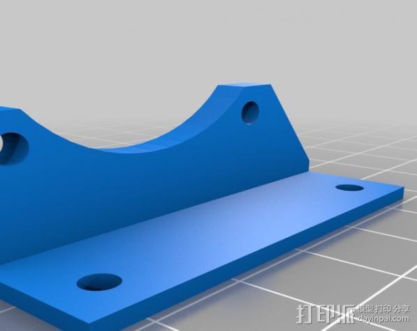 M2风扇支架 3D模型  图2
