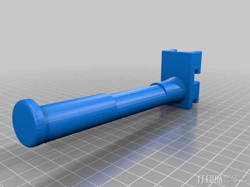 加长版 线轴架 3D模型  图1