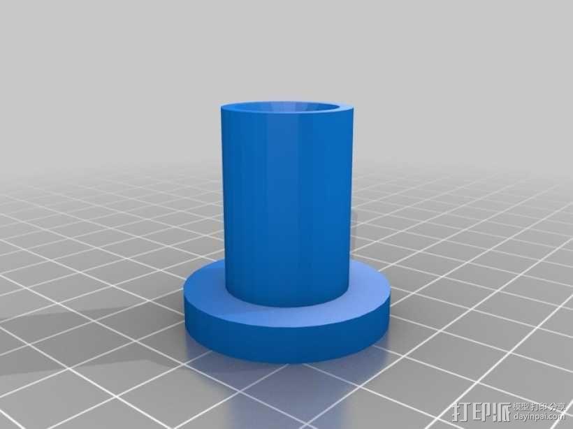 10x2梯形螺母 3D模型  图1