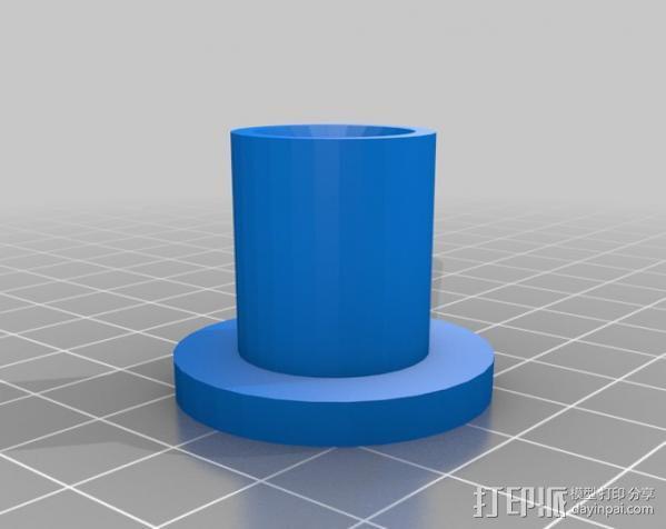 10x2梯形螺母 3D模型  图2
