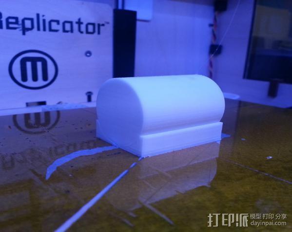 气缸摆件 3D模型  图3