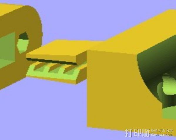 Y轴拉紧器 3D模型  图4