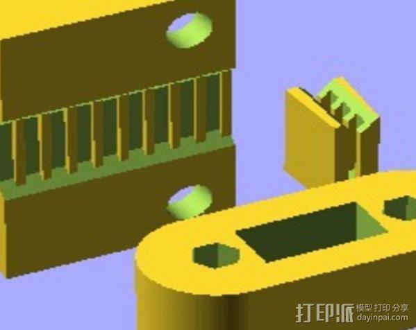 Y轴拉紧器 3D模型  图5