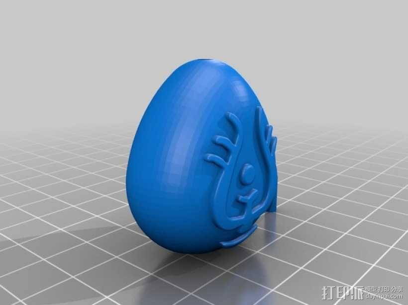 悬浮石吊坠 3D模型  图2