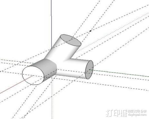 PVC衔接器 3D模型  图2