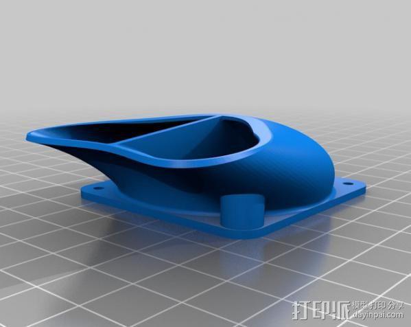 E3D加热板适配器 3D模型  图2