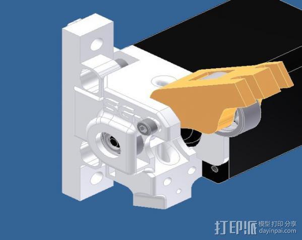 挤出器 3D模型  图1