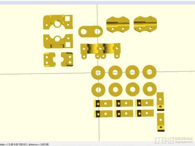 i3 模板升级 3D模型  图1