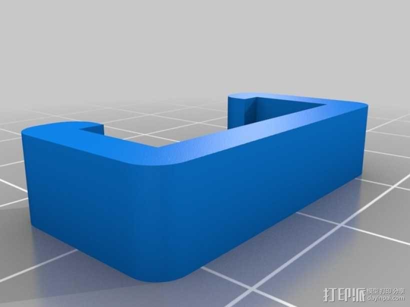 挤压器适配器 3D模型  图1