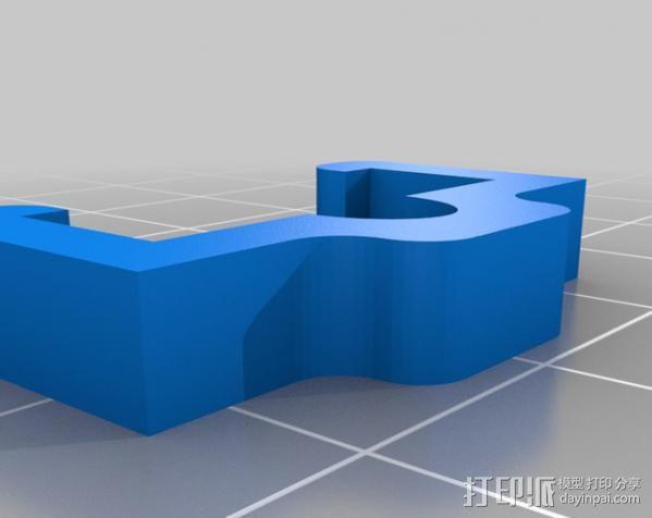 挤压器适配器 3D模型  图2