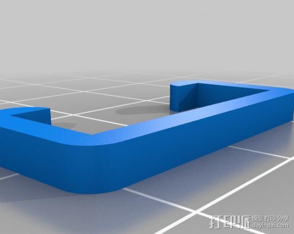 挤压器适配器 3D模型  图3