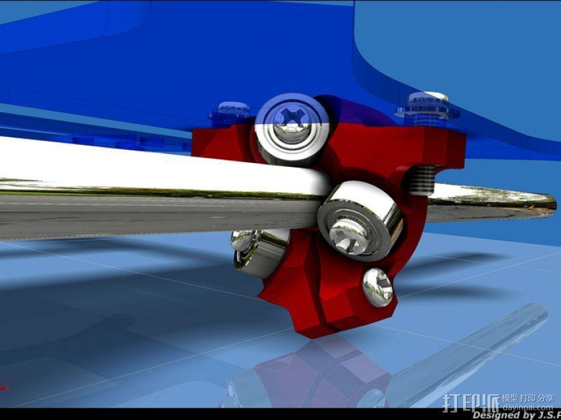 滚轴适配器 3D模型  图1